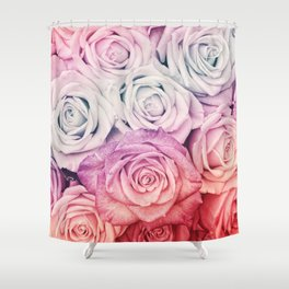 Some people grumble II  Floral rose flowers pink and multicolor Shower Curtain