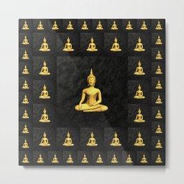 Golden Buddh Metal Print