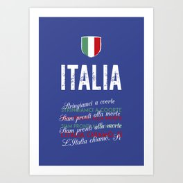 Il Canto Degli Italiani (Italian National Anthem) Art Print