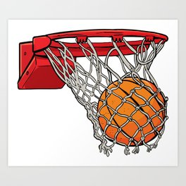 ball basket Art Print