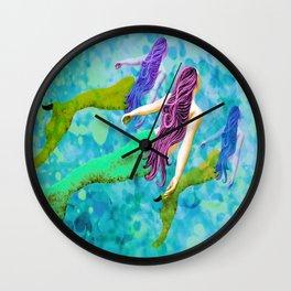 swimming deep with my pod Wall Clock