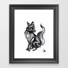 Foxy Two Framed Art Print