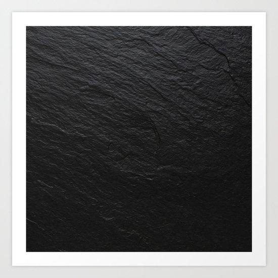 Black Slate Art Print