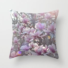 Early Spring Blossoms Throw Pillow