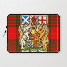 ROYAL SCOTS BANNER ON CAMERON PLAID TARTAN Laptop Sleeve