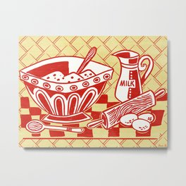 Mixing Up Something Good In The Kitchen Metal Print