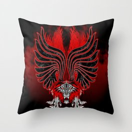 Dragon Gargoyle Tattoo Style Throw Pillow
