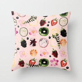 Fruit festival pattern Throw Pillow