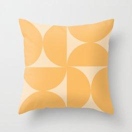 Monochromatic Minimalism - Yellow Throw Pillow