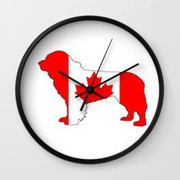 """Newfoundland Dog """"Canada"""" Wall Clock"""