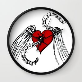 Heart Music Wall Clock