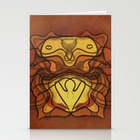 totem Stationery Cards featuring Totem by SensualPatterns