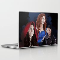 ouat Laptop & iPad Skins featuring Warrior Women of OUAT by Christine Ring