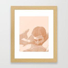 Dog's meow Framed Art Print