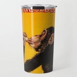 Vintage Anisette Liquor Italian Drinking 'Drunken Monkey' Aperitif Advertisement Poster Travel Mug