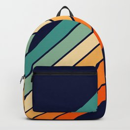 Farida - 70s Vintage Style Retro Stripes Backpack