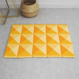 Geometric Prism in Sunshine Yellow Rug