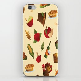 THANKSGIVING ELEMENTS PATTERN iPhone Skin