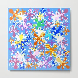 Colorful Abstract Summer Design Metal Print