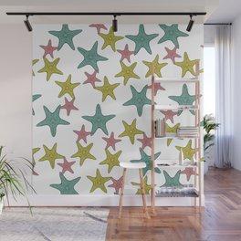 starfish tropical print Wall Mural