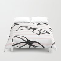 frames Duvet Covers featuring Frames & Stripes by Georgiana Paraschiv