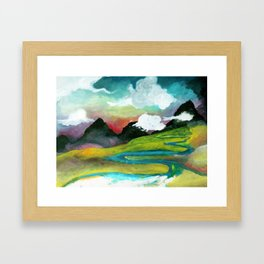 klettaveggur Framed Art Print