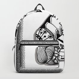 Zentangle Z Monogram Alphabet Initials Backpack