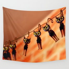 Cocktail cats Wall Tapestry