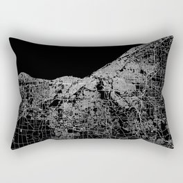Cleveland map Ohio Rectangular Pillow
