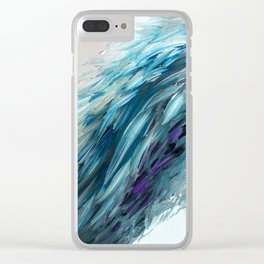 Once Upon An Angel Wing-blue Clear iPhone Case