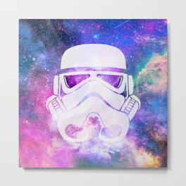 Stormtrooper Galaxy Metal Print