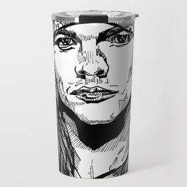 Axel Rose Portrait Travel Mug