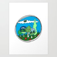 Infinity Forest  Art Print
