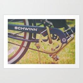 Vintage Schwinn Cruiser Motorized Bike Art Print