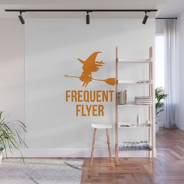 Frequent Flyer Halloween Flying Witch Wall Mural