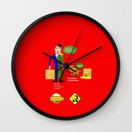 Military–industrial–congressional complex (M. I. C. C.) Wall Clock