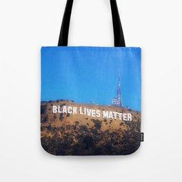 Black Lives Matter - Hollywood Sign Tote Bag