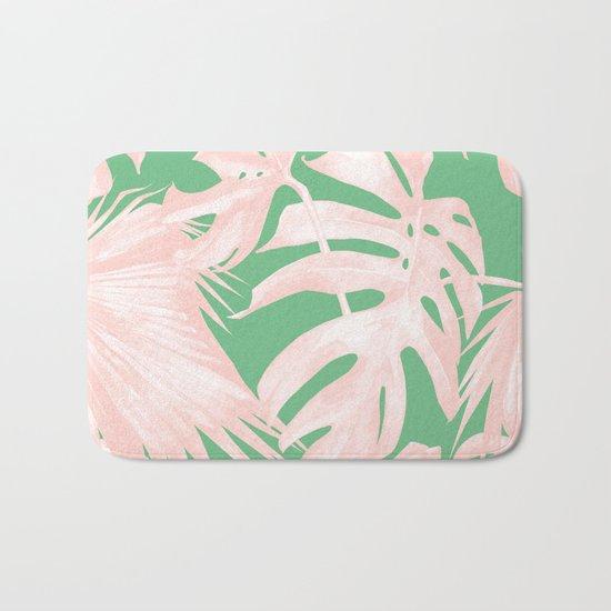 Island Love Seashell Pink + Green Bath Mat