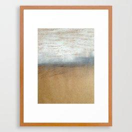 Prairie snow Framed Art Print