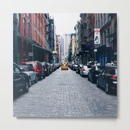 Yellow Cab (Soho, New York Metal Print