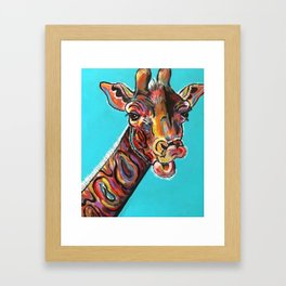 Jazzy Giraffe Framed Art Print
