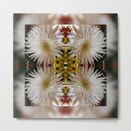 Flower Reflection Metal Print