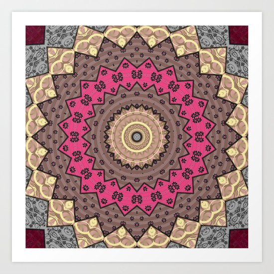 Lazy patchwork . Abstraction . Art Print