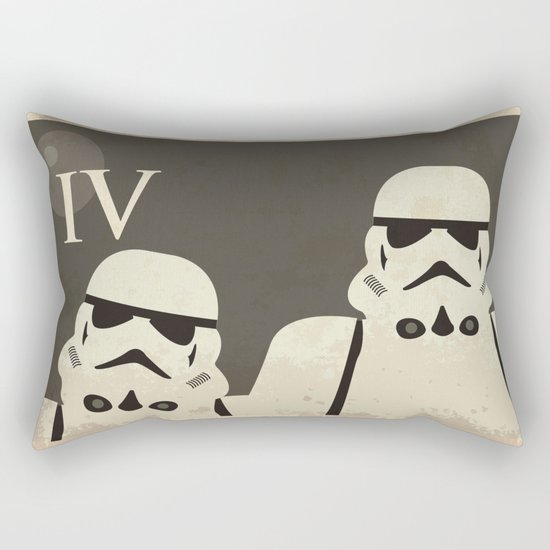 Star Wars Minimal Movie Poster Rectangular Pillow