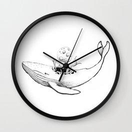 Moon Whale Wall Clock