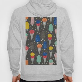 Colorful ice-cream summer food pattern Hoody
