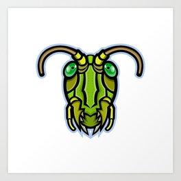 Grasshopper Head Mascot Art Print