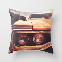 Rusty And Blue - America As Album Art Throw Pillow