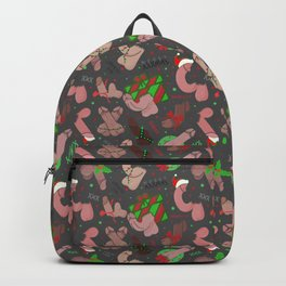 Merry Dickmas, Grey Pattern Backpack