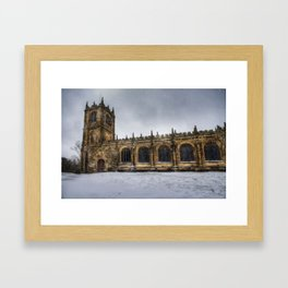 St Marys Winter Scene Framed Art Print
